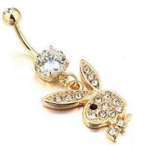 Playboy Bunny Navel Belly Ring 316L Surgical Steel